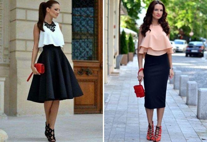 легкая юбка и топ