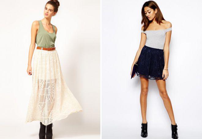 легкие летние юбки