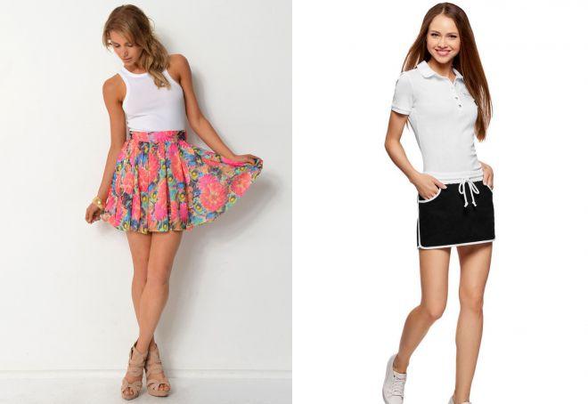 легкие короткие юбки