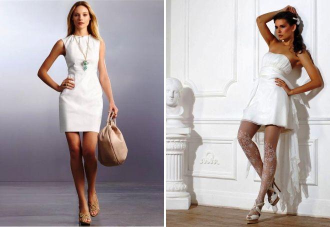 туфли под белое платье короткое