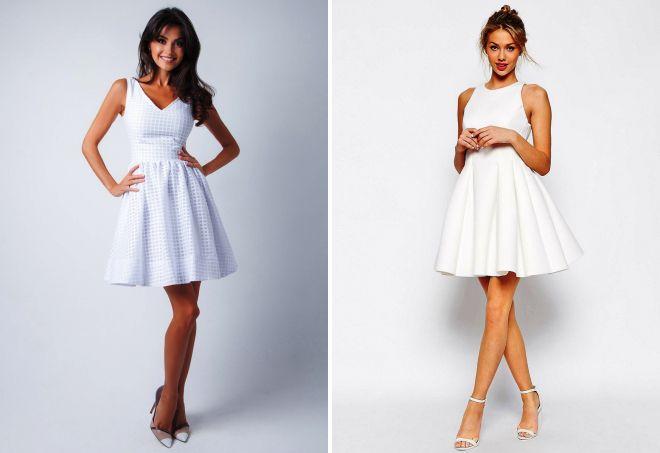 e506b3d0138 Красивое белое короткое платье – вечернее