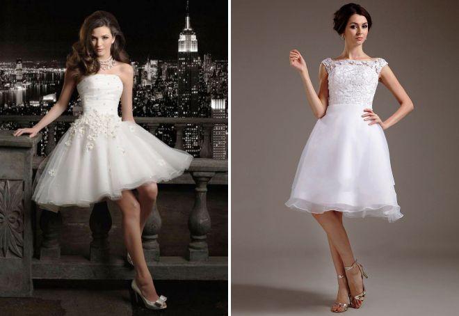 белое короткое пышное платье