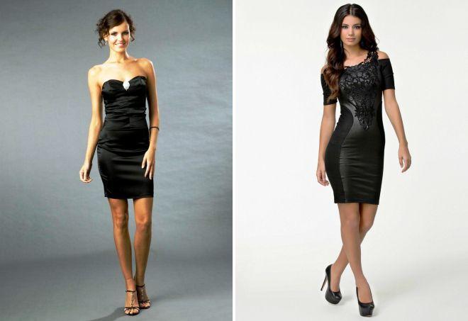 черное вечернее короткое платье