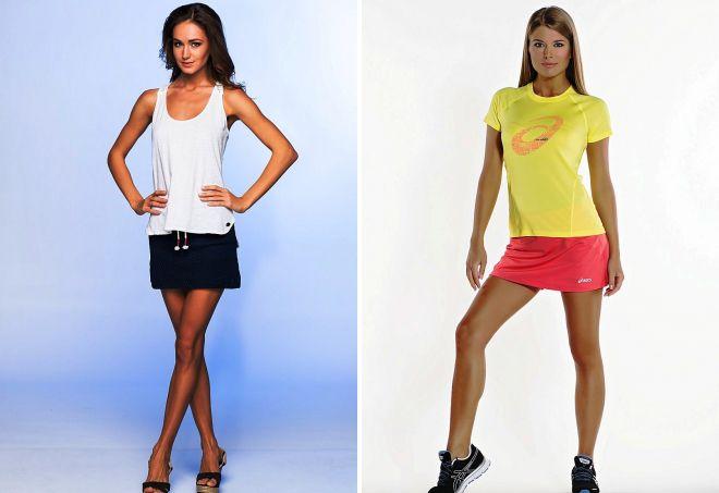 спортивные короткие юбки