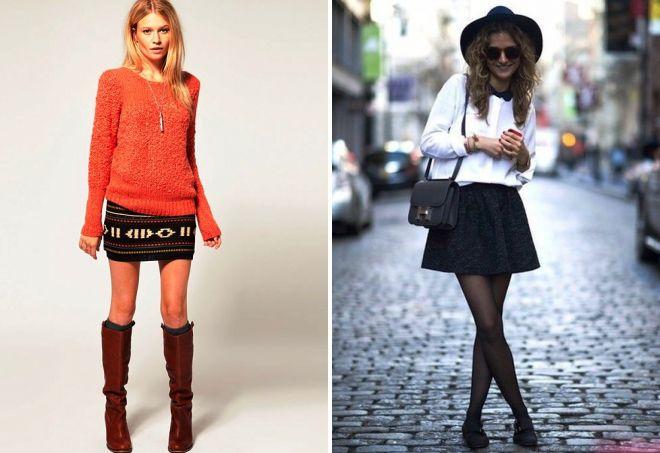 с чем носить короткую юбку