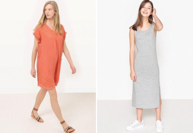прямое платье без рукавов