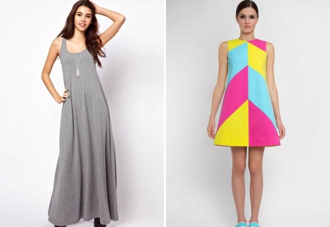 платье а силуэта без рукавов