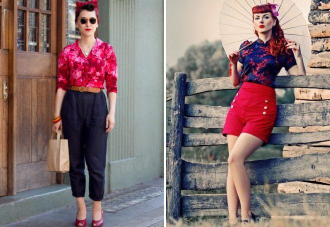 одежда в стиле стиляги для женщин