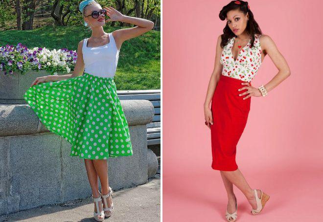 юбка в стиле стиляг