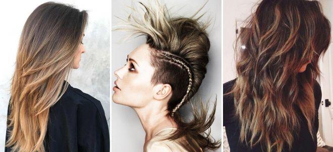 модные стрижки 2018 на длинные волосы