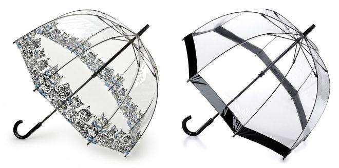 прозрачный женский зонт