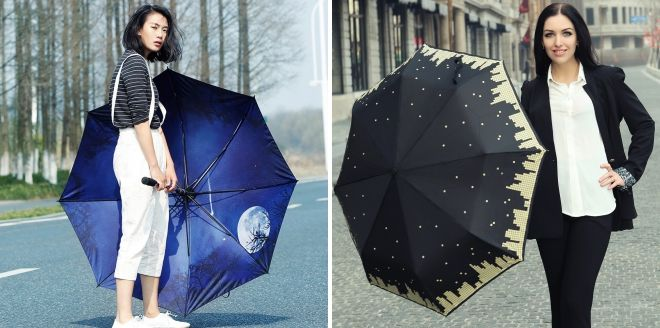 зонты  принтами