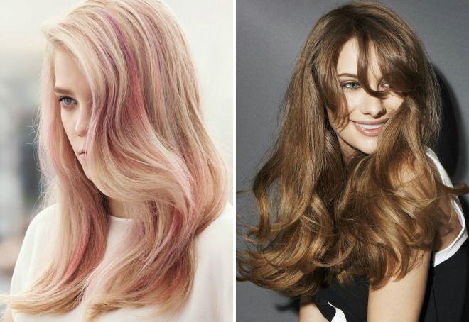 модный цвет 2018 для длинных волос