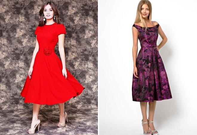 красивые платья миди
