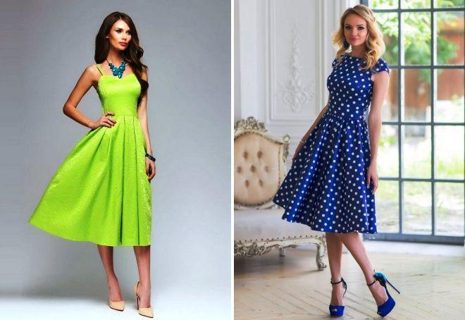 модные платья миди 2017