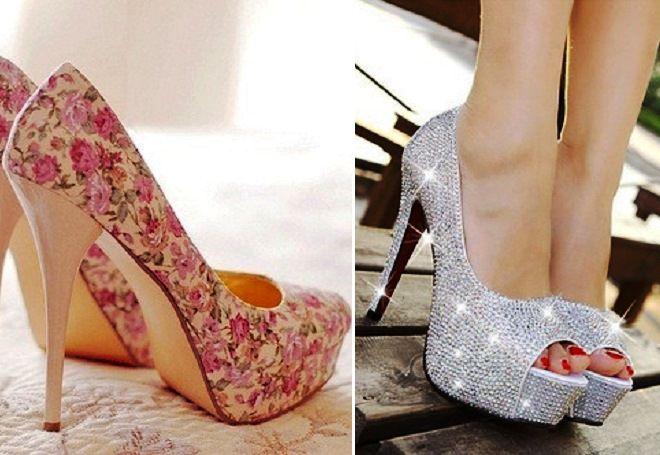 731cc6df8 Самые красивые женские свадебные туфли – на высоком, низком каблуке ...