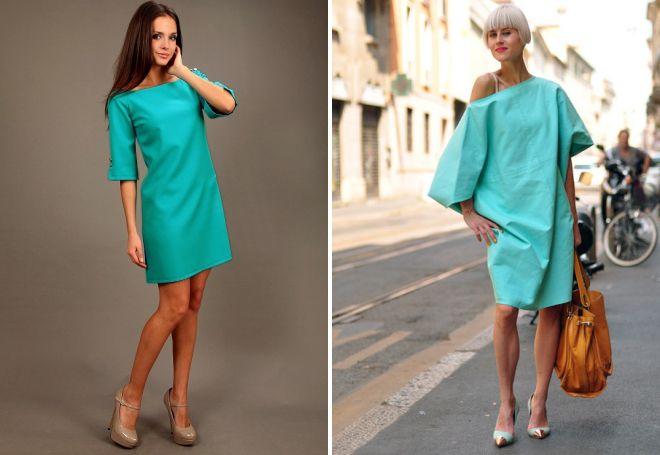 бирюзовое платье футляр
