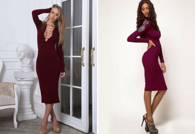 бордовое платье лапша