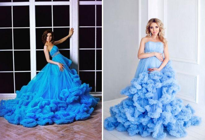 голубое платье облако