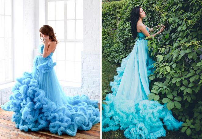 красивые голубые платья
