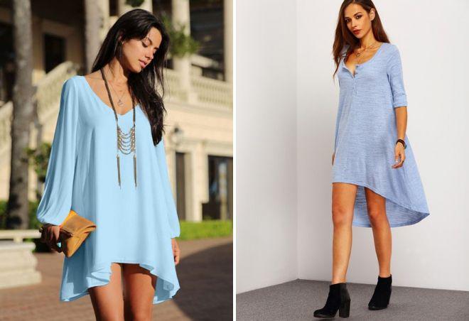 платье небесно голубого цвета