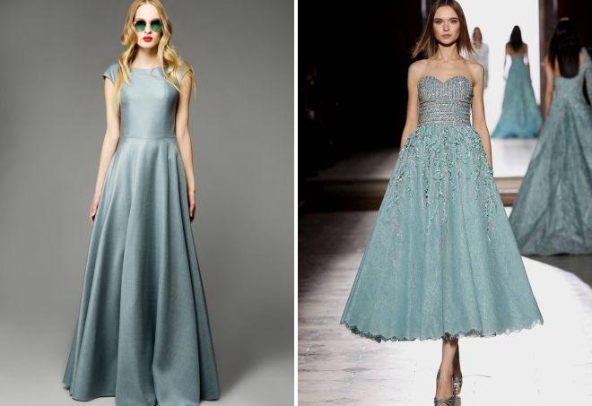 платья голубого цвета