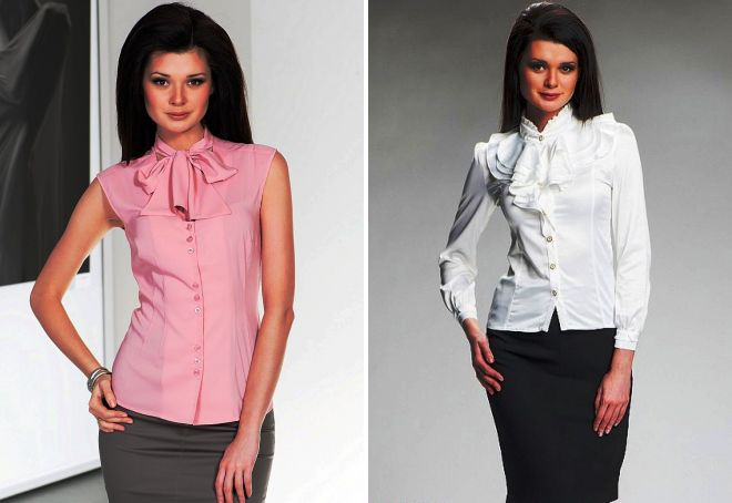 64ad373bc3f Модные летние блузки с коротким рукавом – из шифона и атласа ...