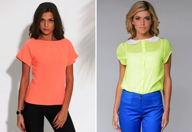 3f6c5e2b592 Модные летние блузки с коротким рукавом – из шифона и атласа ...
