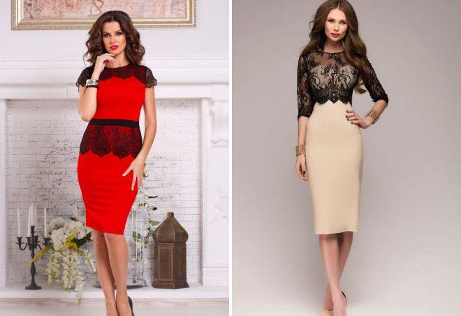 66d1cbdcddb Модное платье-футляр – классическое и вечернее