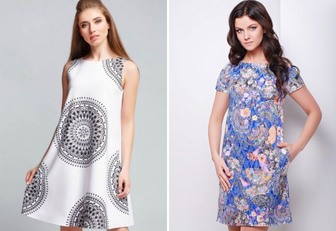 модное платье трапеция