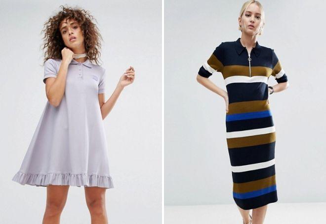 женское платье поло