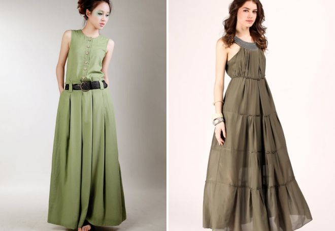 Льняное платье в пол