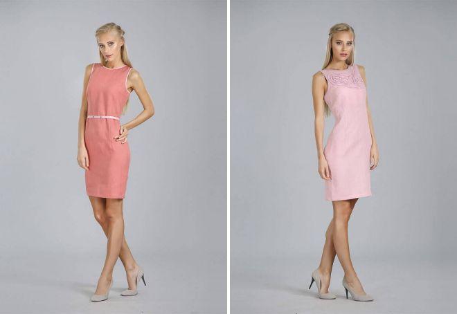 Платье-футляр из льна