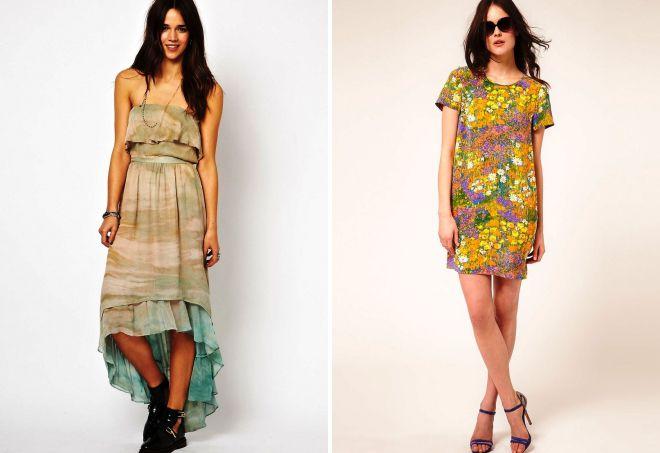 фасоны шелковых платьев