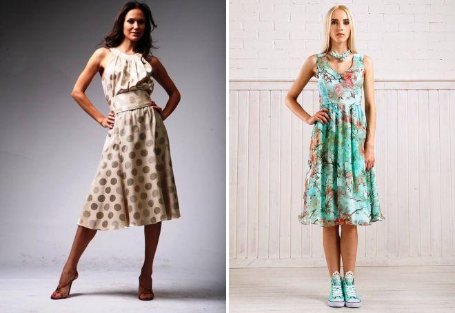 летние шелковые платья