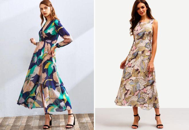 модные шифоновые платья