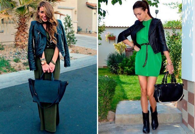 зеленые женские платья