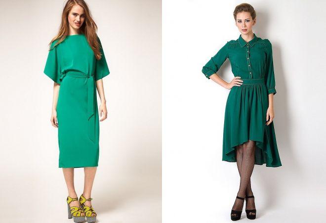 туфли к зеленому платью
