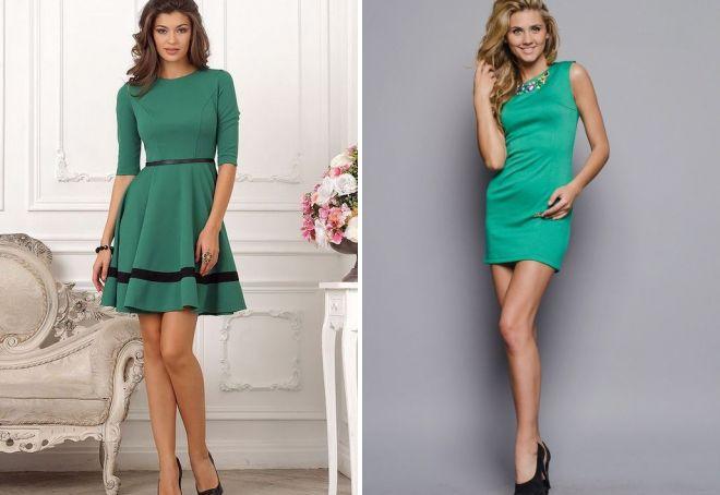 10794710272 Красивое зеленое платье – коктейльное и на каждый день