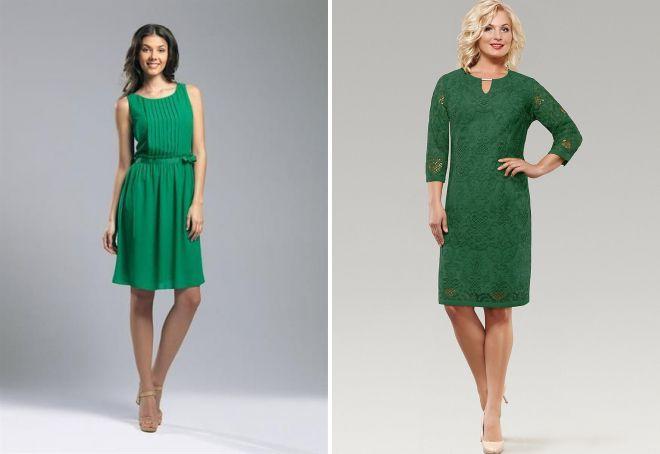 зеленое платье на каждый день