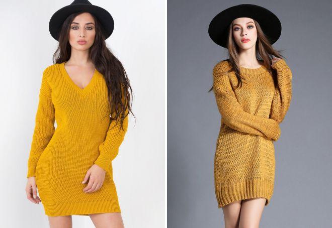 желтое платье 2017