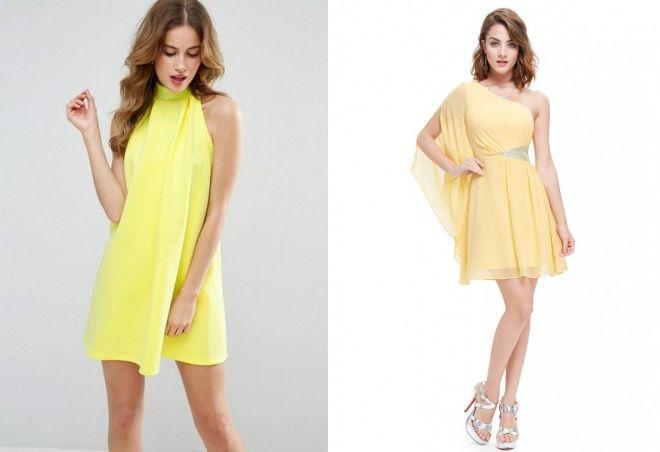 платье желтого цвета 2017