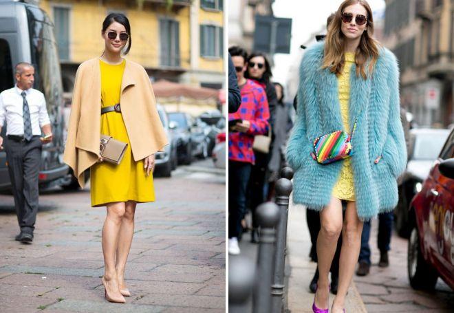 желтые женские платья