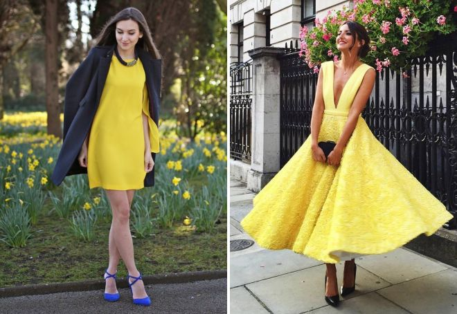 туфли к желтому платью