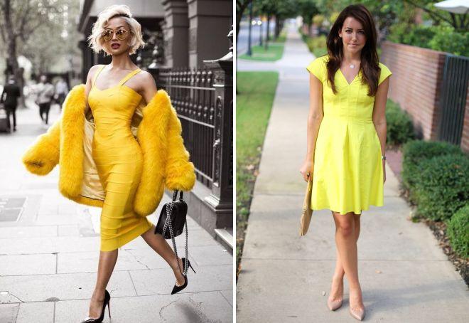 обувь к желтому платью