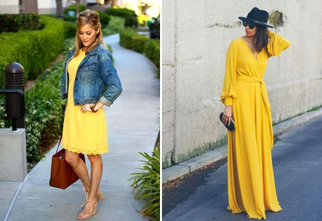 аксессуары к желтому платью