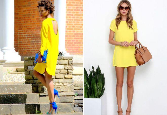 аксессуары под желтое платье