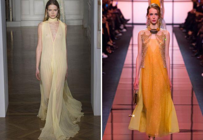 платье желтого цвет