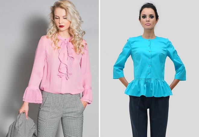 женские блузки с воланами
