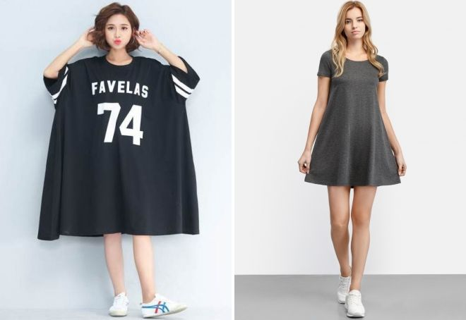 свободное спортивное платье